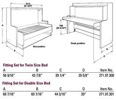 Murphy Bed Desk Combo Plans - Google Search | Murphy bed ...