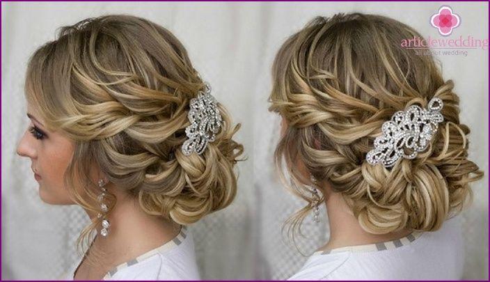 Vaihtoehtoja häät hiukset styling