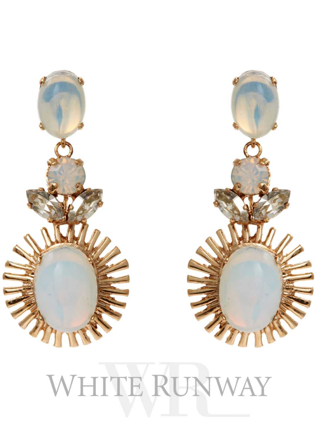Cygnus Earring. Gorgeous earrings by Peter Lang. Made with White Opal and Clear Swarovski® Crystals.