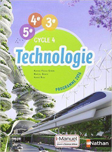 Technologie Cycle 4 2016 Technologie College Technologie Manuel Scolaire