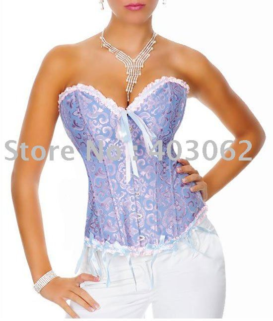302d034e68 Free shipping!! Gothic Brocade Sexy Lingerie Blue body lift shaper ...