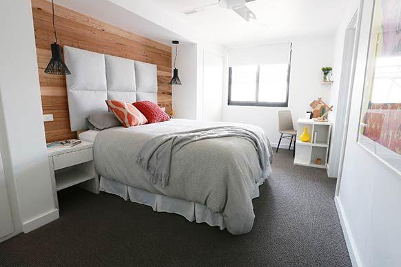 The Block Sky High Room Reveal Alisa Lysandras Guest Bedroom - The block bedroom designs
