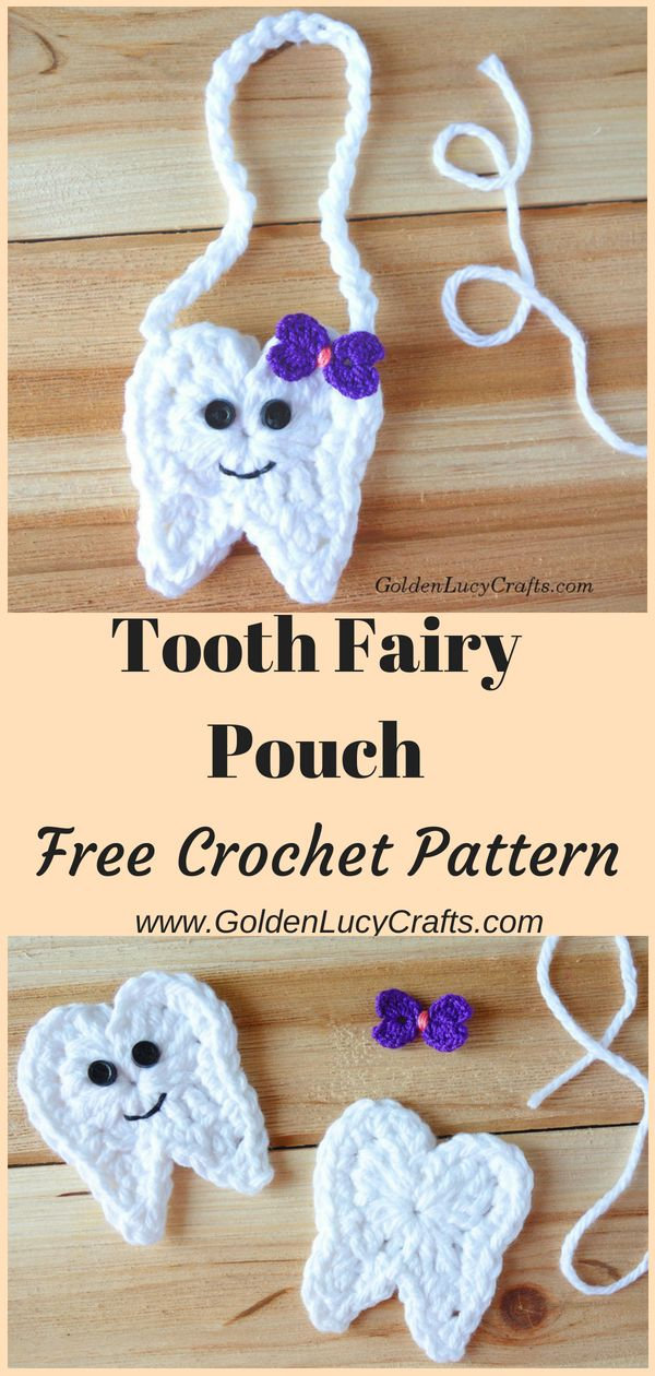 Crochet Tooth Fairy Pouch | Crochet & Knit projects | Pinterest ...
