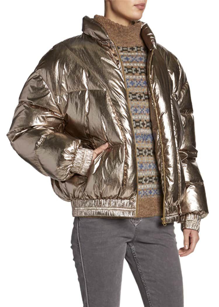 Etoile Isabel Marant Kristen Metallic Puffer Jacket Jackets Puffer Jackets Puffer [ 1050 x 750 Pixel ]