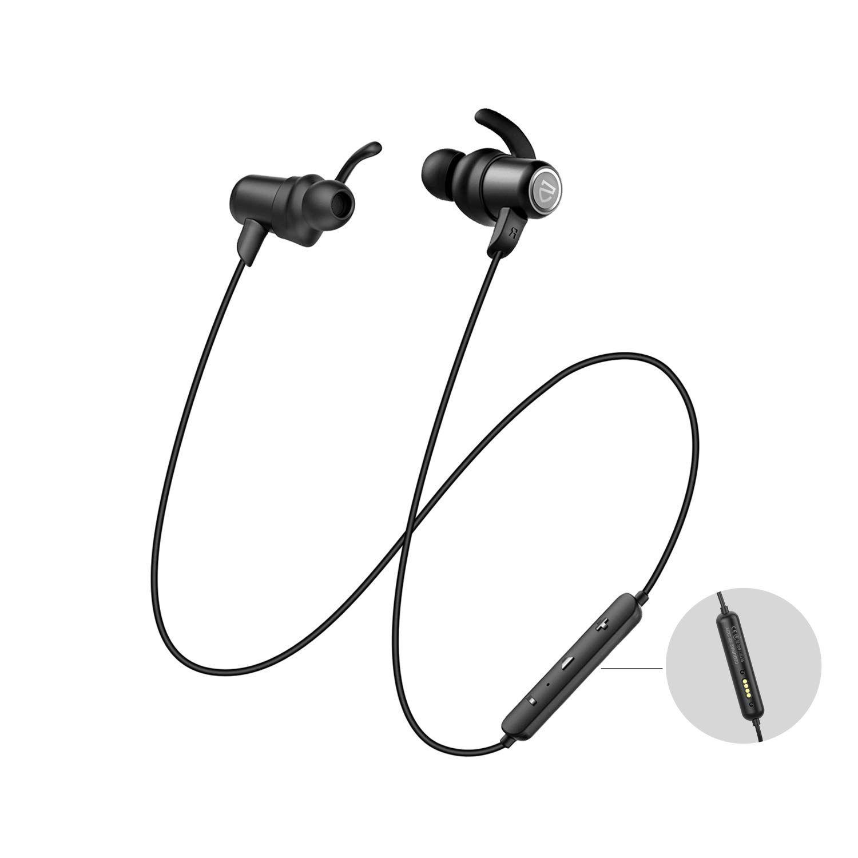 SOUNDPEATS Bluetooth Headphones IPX8 Sweatproof, Wireless