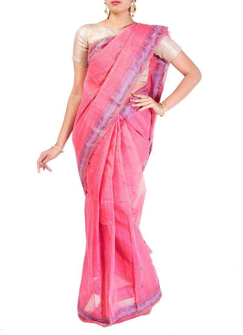 Peppy Bengal Cotton Saree