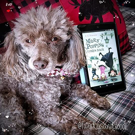 Click on the image to read my complete book review.  #poodles #poodlestagram #poodlesofinstagram #furbabies #dogsofinstagram #bookstagram #dogsandbooks #bookishlife #bookishlove #bookstagrammer #book #books #booklover #bookish #bookaholic #reading #readersofinstagram #instaread #ilovebooks #bookishcanadians #canadianbookstagram #bookreviewer #bookcommunity #bibliophile #bookphotography #marypoppinscomesback #pltravers #bookreview