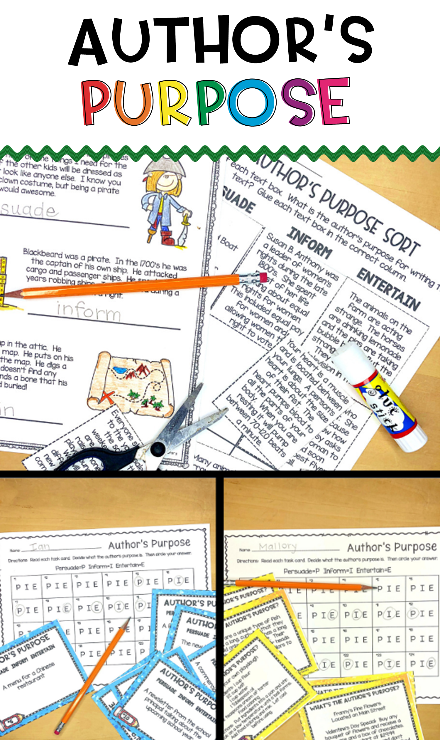 Author S Purpose Activity Bundle With Images
