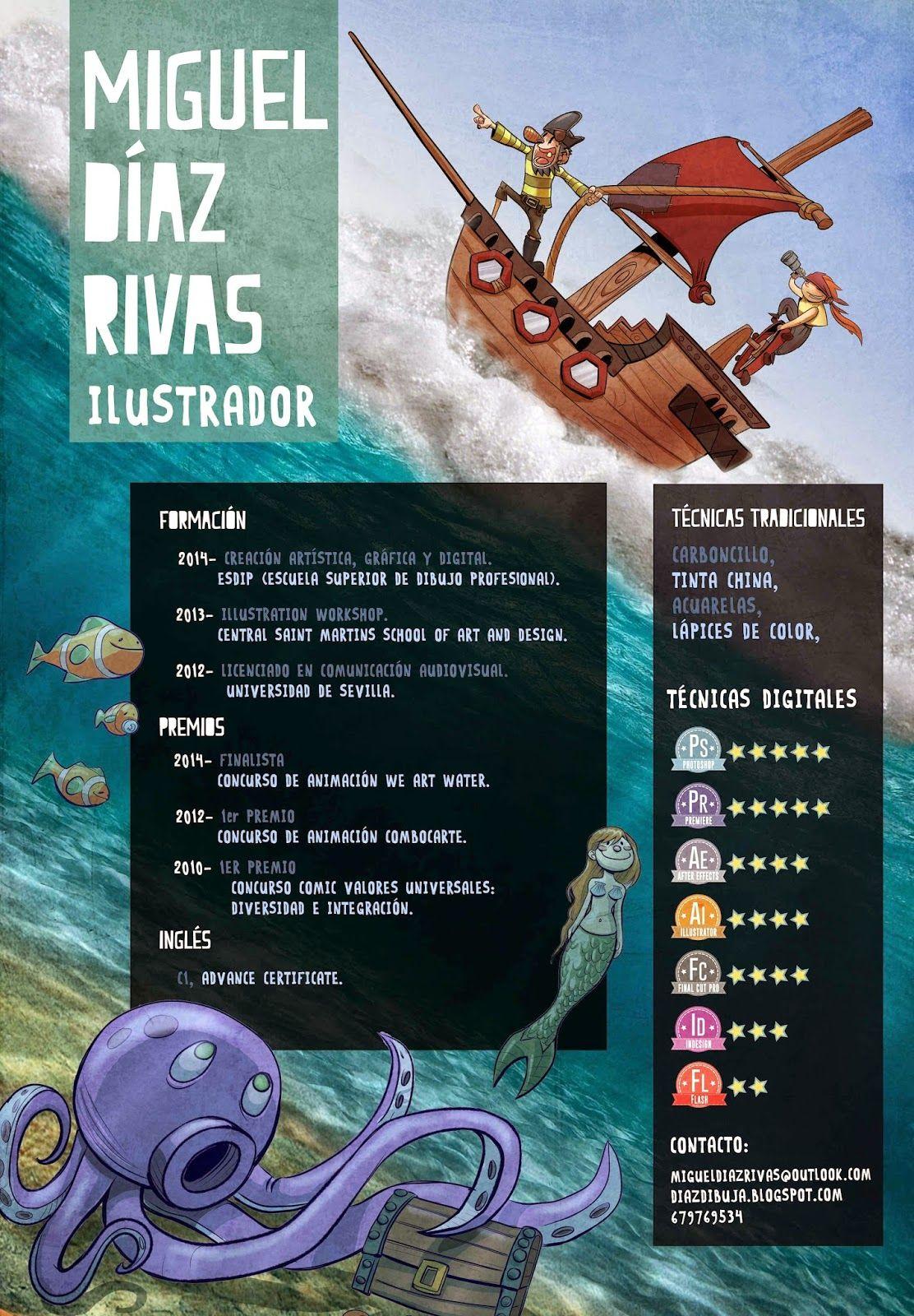 Diaz dibuja: Nueva versión del CV para ILUSTRADOR INFANTIL   design ...