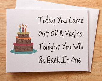 Birthday Card, Vagina Card, Naughty Card, Dirty Card, Card For Boyfriend, Boyfriend Gift, Boyfriend Birthday, Sex Card, Husband Birthday -   10 diy birthday for boyfriend ideas