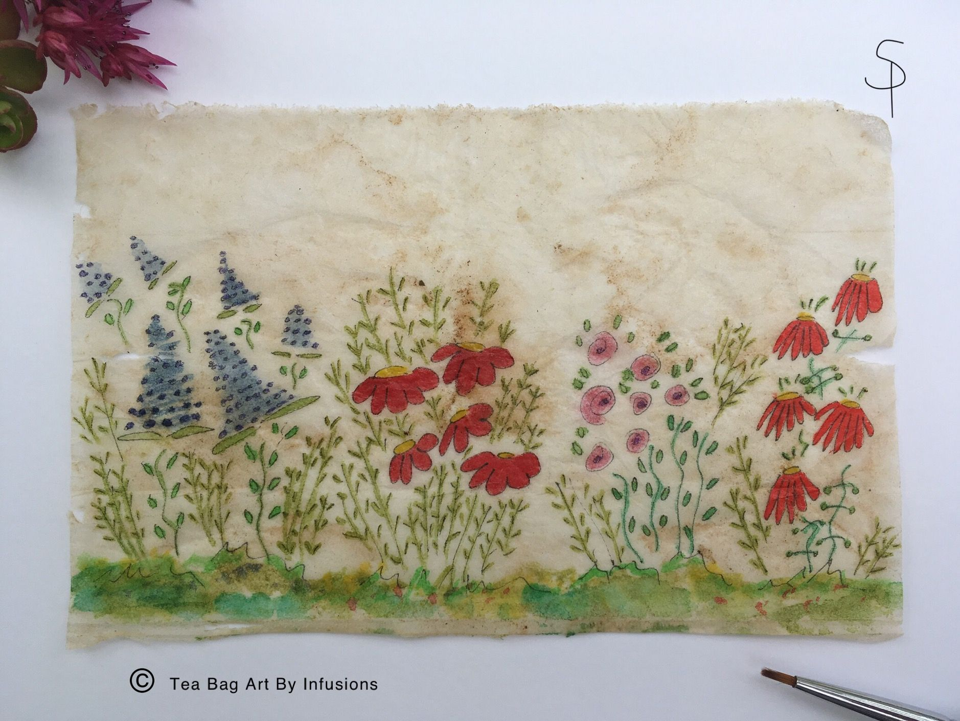 Beau T Ful Floral Tea Bag Art Just Loved Doing This Which Makes