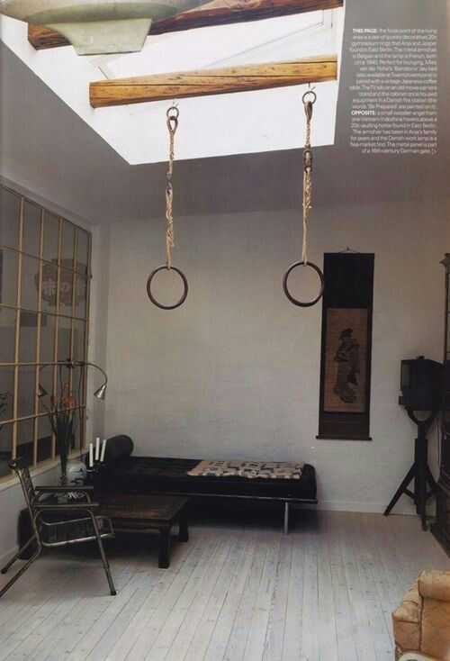 Vintage Iron Gymnastics Rings For Workouts Home Old Wood Doors Home Decor