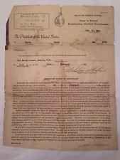 vintage ephemera wwii selective service system letter draft harry leroy 1944 nh