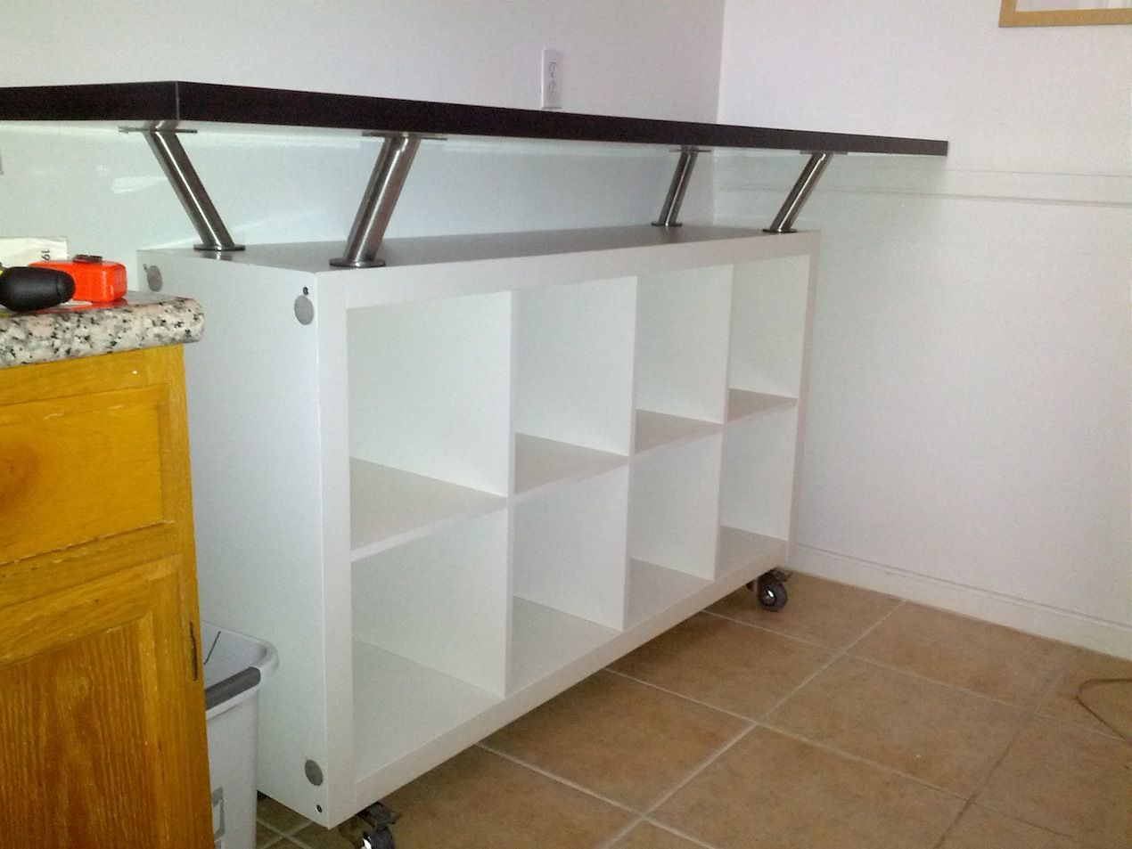 Breakfast Bar With Lot Of Storage Space Bar Table Diy Breakfast