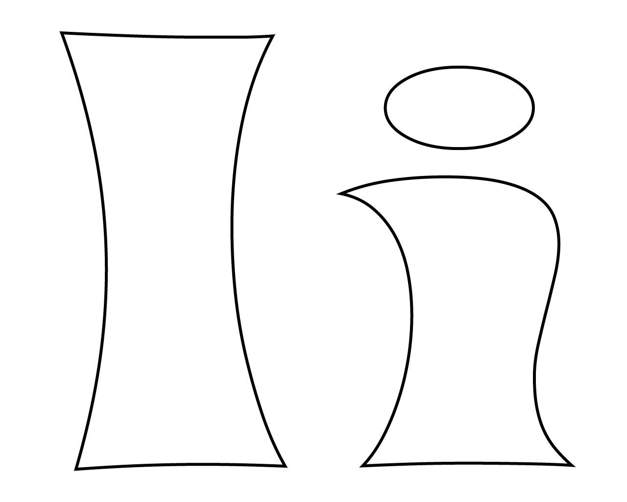 Letter I Coloring Pages Alfabe