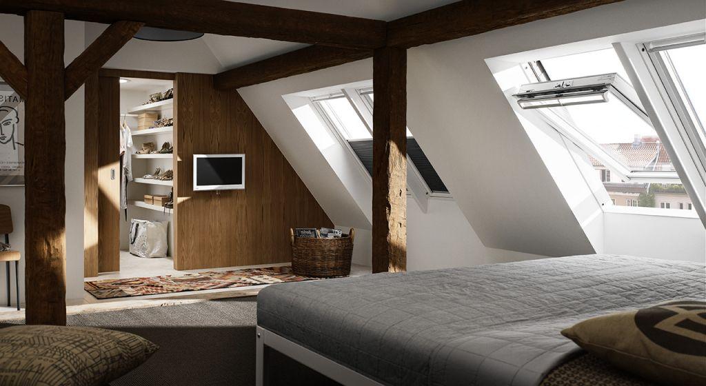 Innenarchitektur : Ger\u00e4umiges Schlafzimmer Ideen Dachboden