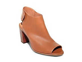 6baf78f9768 Cognac Bootie - Mid End - 99.95 Mule Shoes in Black Leather