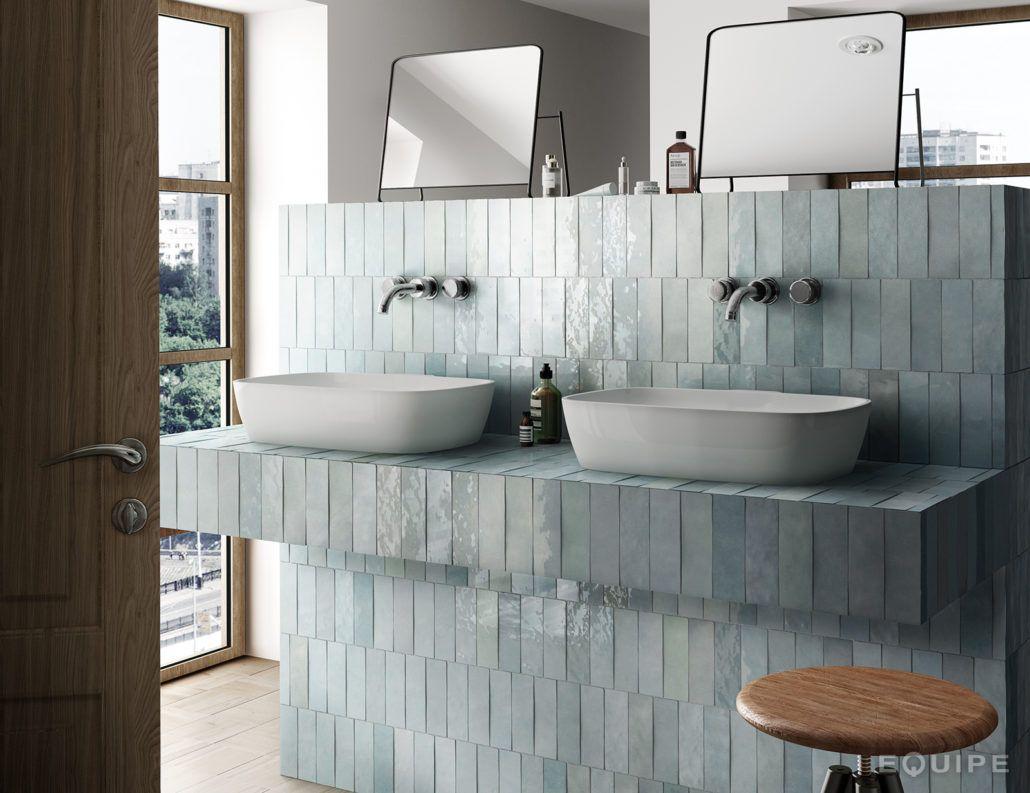 Artisan equipe ceramicas bathroom ba os de estilo for Azulejos para banos estilo rustico