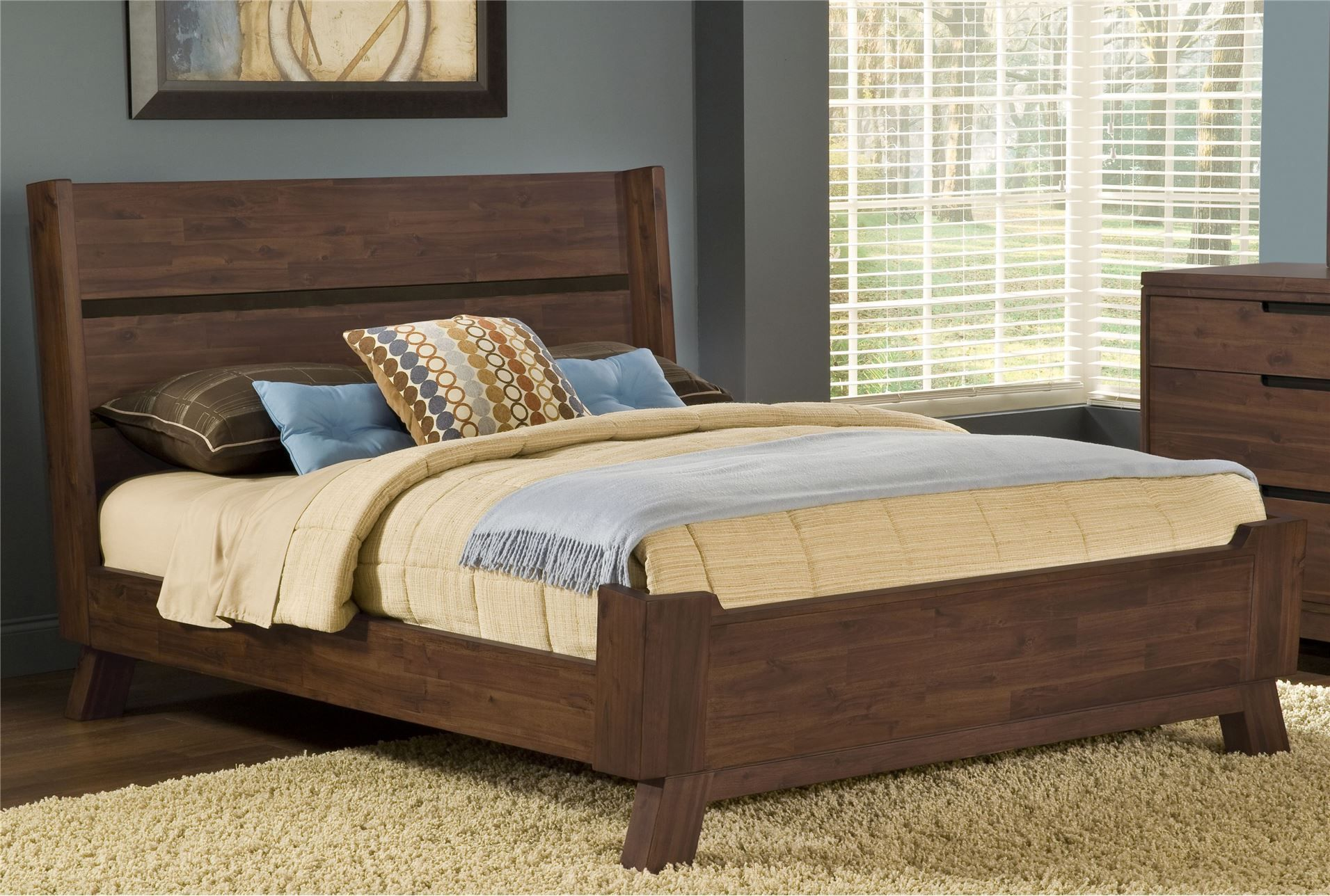 Best Blake Ii California King Platform Bed Solid Wood 400 x 300