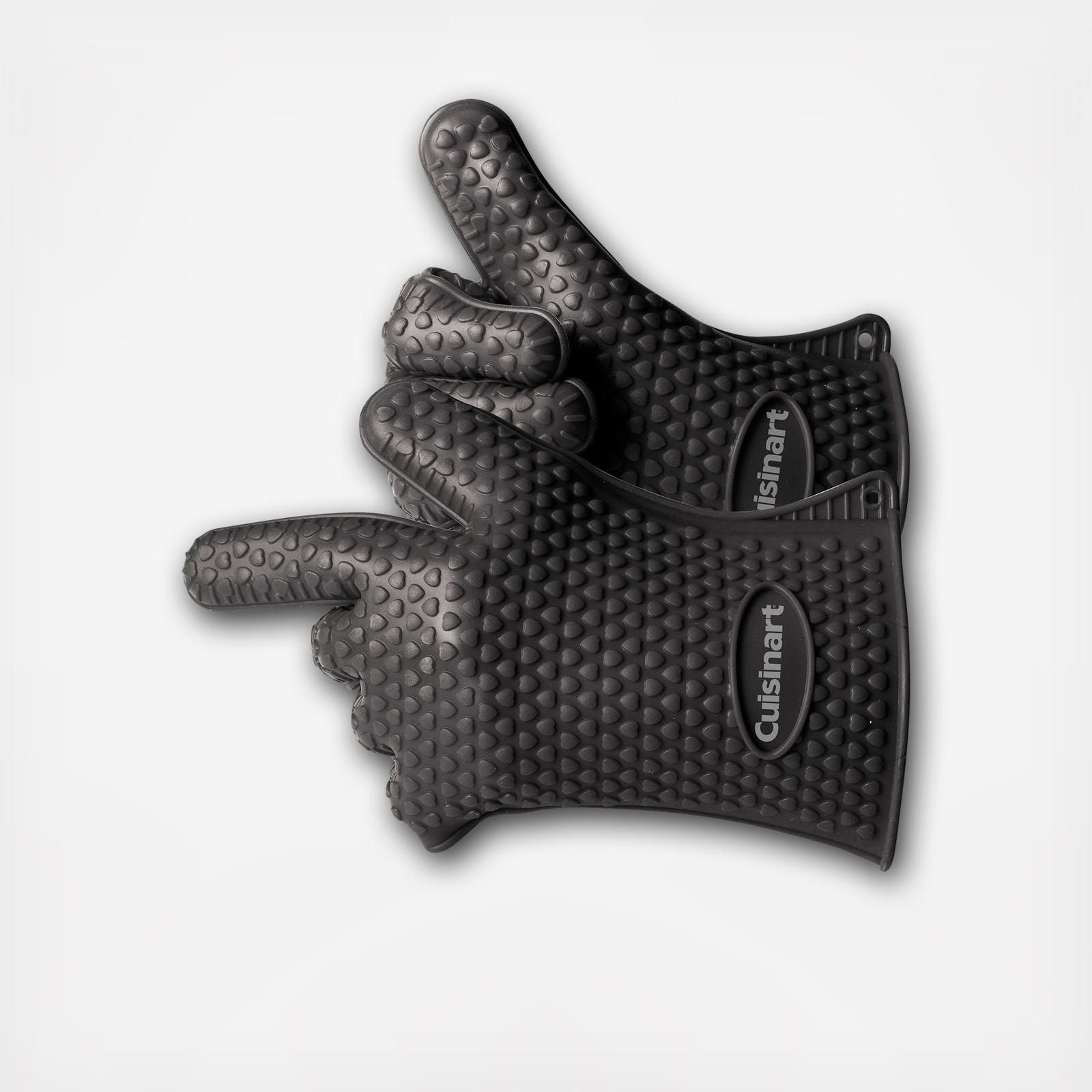 Cuisinart S Heat Resistant Silicone Gloves Are Perfect For Working With A Grill Or Smoker Since The Glov Silicone Gloves Heat Resistant Silicone Zola Registry