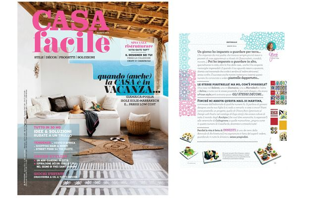 CasaFacile agosto 2014- Cover and editorial  #homemagazine #designmagazine @mondadori