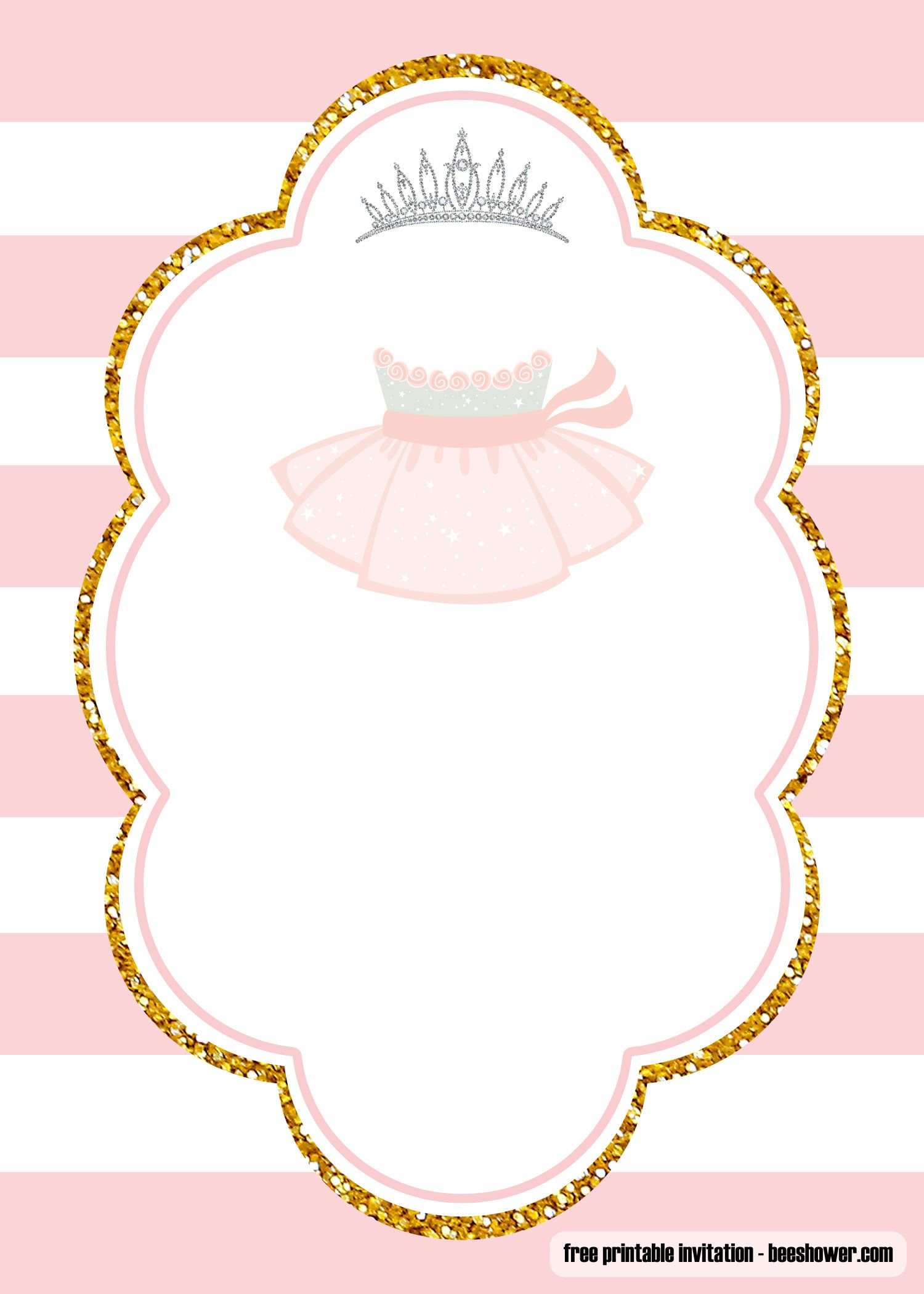 FREE Ballerina Baby Shower Invitations Templates  Ballerina baby