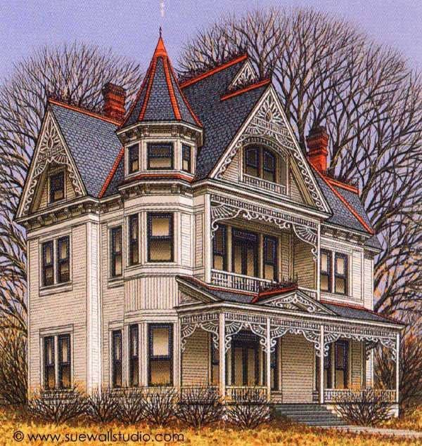Pet Portraits And Home Portraits Traditional Miniature Paintings Victorian Homes Victorian Style Homes Victorian Architecture