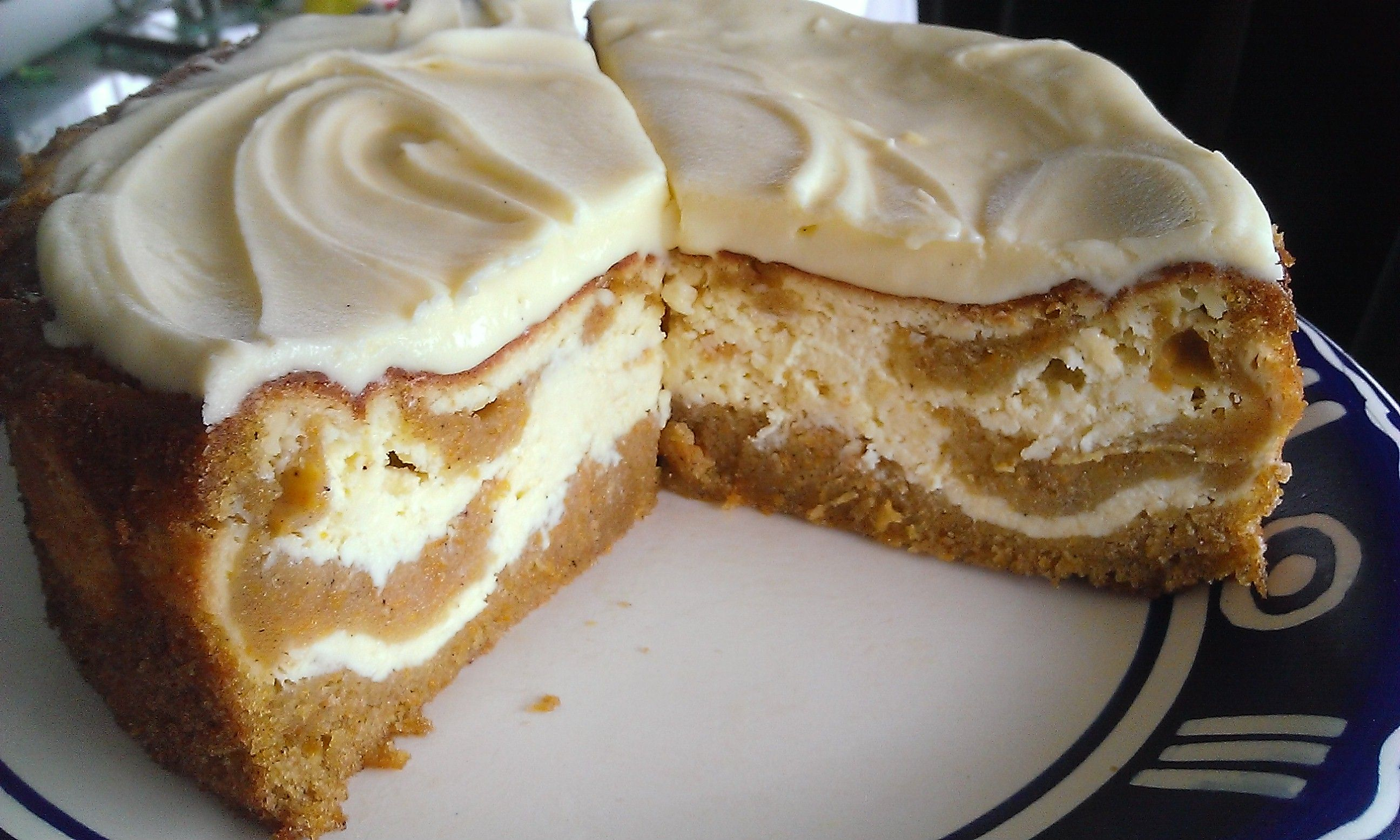 Carrot Cake Cheesecake - absolutely delicious and a great alternative to a biscuit base. Extremely easy to make.