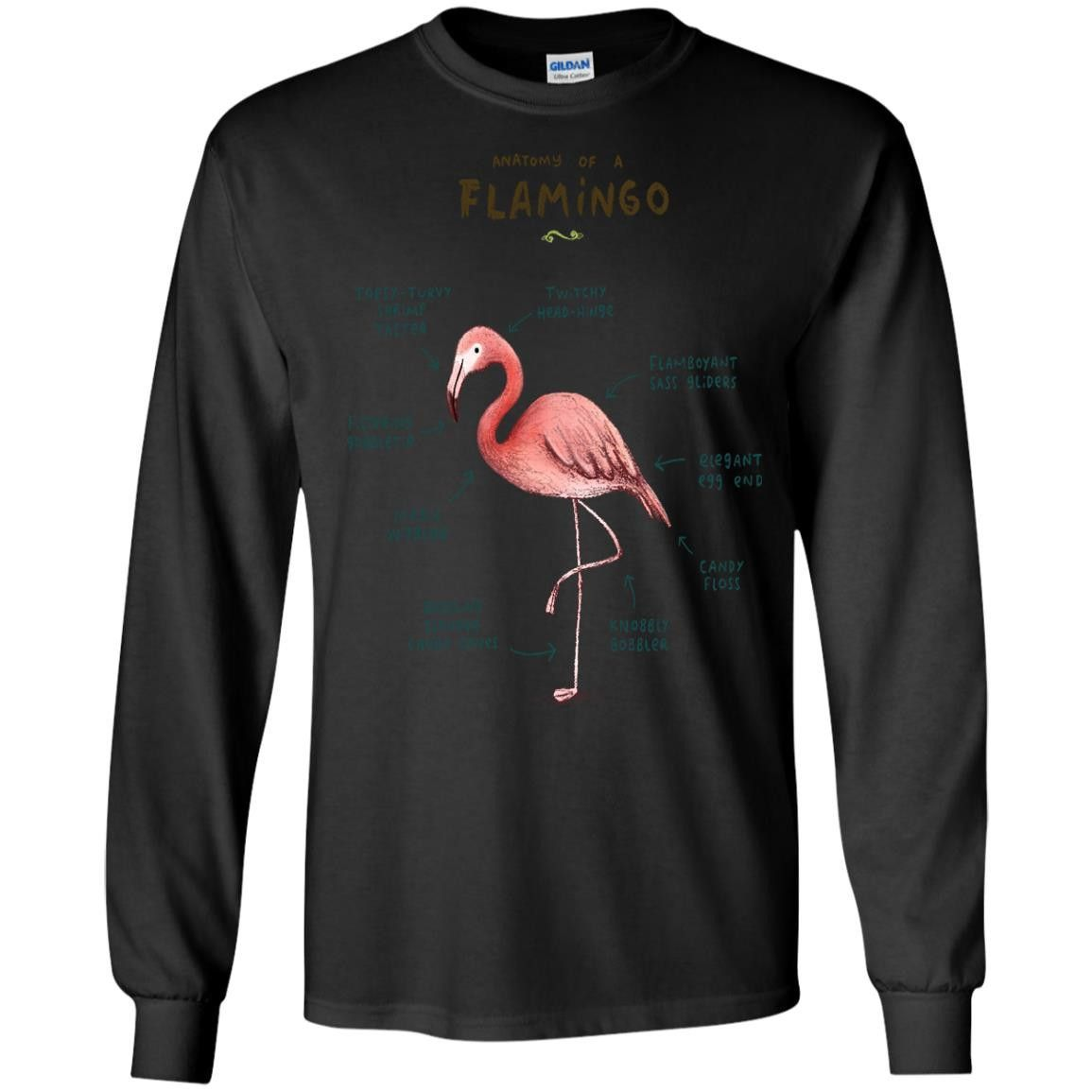 ANATOMY OF A FLAMINGO BY12891287 G240 Gildan LS Ultra Cotton T-Shirt