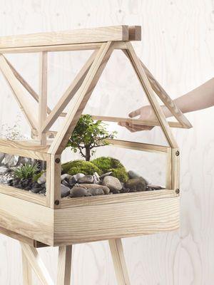 Terrarium Bois terrarium greenhouse / l 95 x h 60 cm - design house stockholm