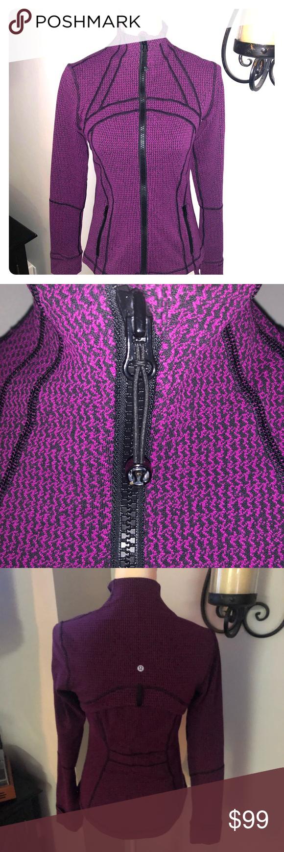 Lululemon Define Jacket Teeny Tooth Deep Fuchsia Rare Pattern