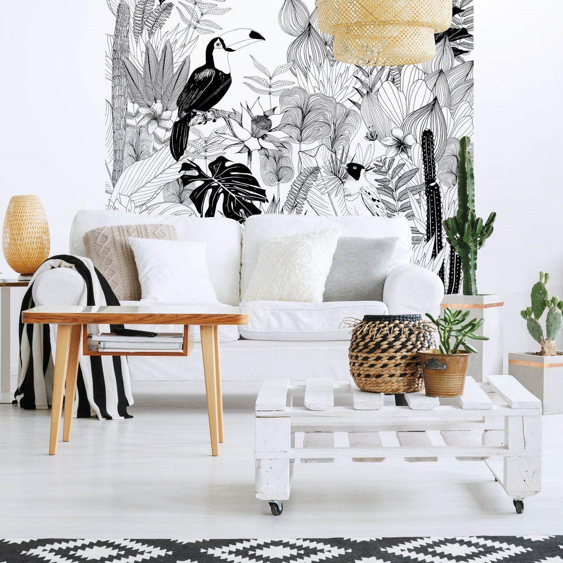 fresque murale magn tique jungle spirit pinterest decor wall et wallpaper. Black Bedroom Furniture Sets. Home Design Ideas