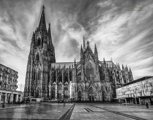 The Cathedral Bw Cologne Cathedral Rhine River Cruise Cathedral