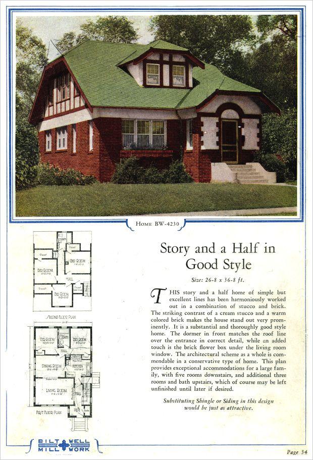 1924 Bilt-Well Model 4230 English Stucco Cottage i dream of home - badezimmer english