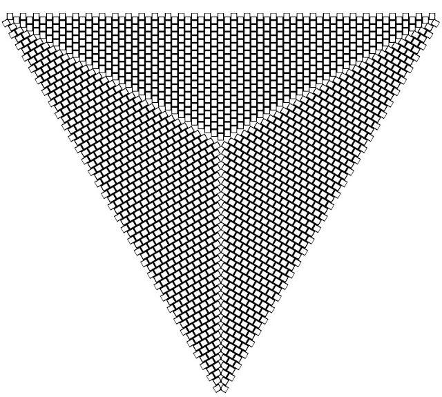 Flat Triangular Peyote Graph Paper  Peyote    Graph