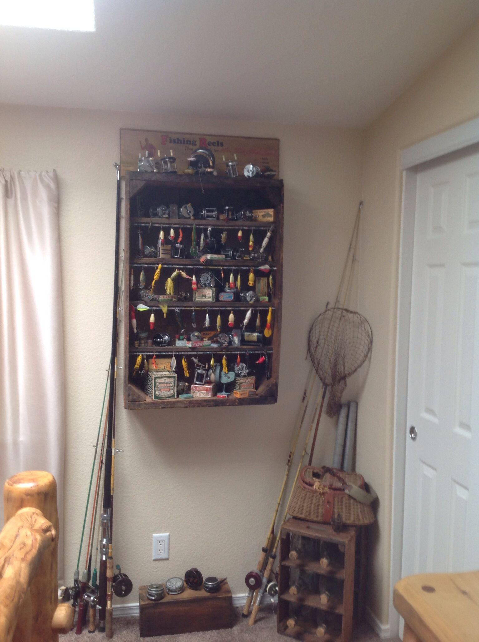 Reel And Lure Display Home Family Room Other Pinterest