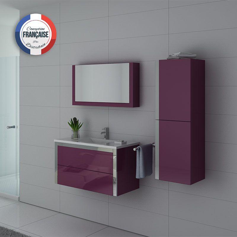 Meubles salle de bain DIS025-900AU Aubergine Simple