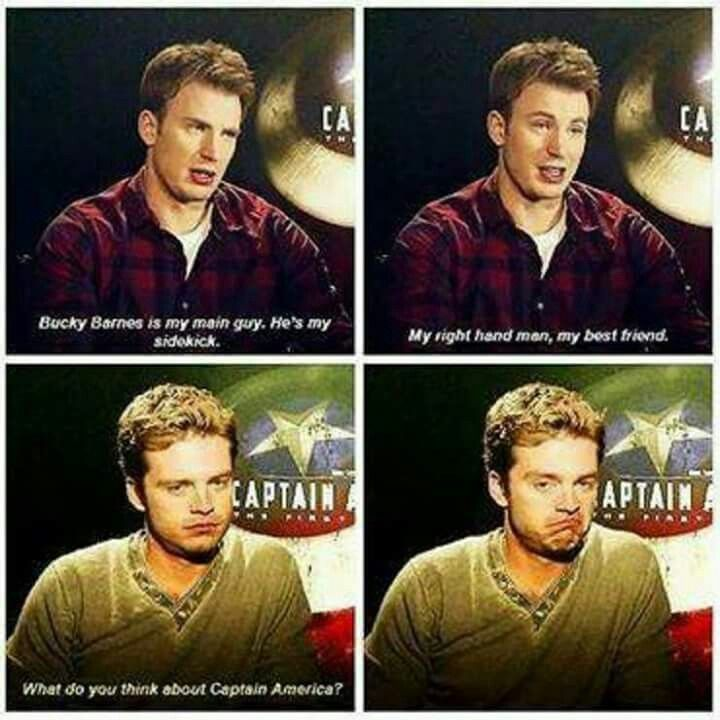 Lol Bucky and Steve / Captain America and the Winter ...