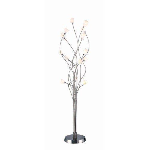 Evolution Multi Light Floor Lamp   Lite Source Modern Vine Fourteen Light  Floor Lamp In Polished
