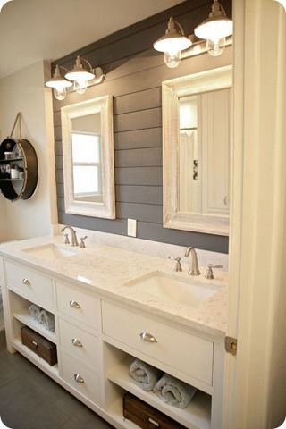 This is exactly the way my bathroom is set up. I need to do this! #bathrooms