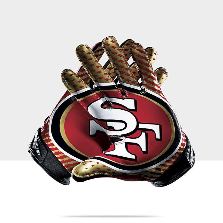 Nike Vapor Jet 2.0 (NFL 49ers) Men's Football Gloves