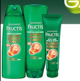 FREE Garnier Fructis Brazilian Smooth Hair Care Product