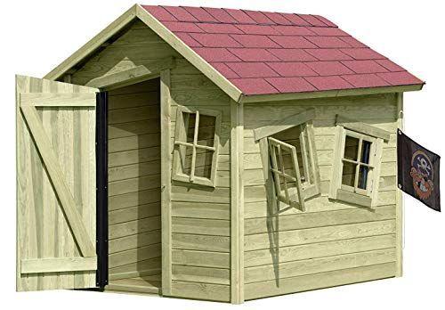 Spielhaus aus Holz, Gartenhaus für Kinder Spielhaus