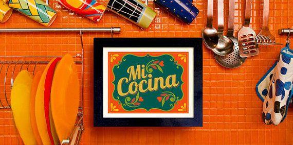 Mexican Kitchen Art Print Decor I Love My Wall By Dexmex 18 00