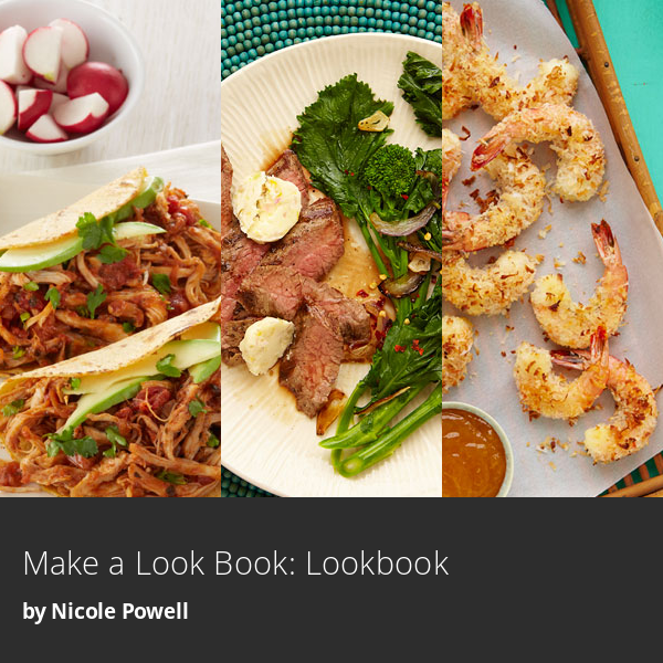 A look book is a gallery of images you can share with your social networks. Select the photos you like best below to make a look book of weeknight meals you'd like to try and click 'Preview' to view your creation. Then, share it with your friends using the share buttons.