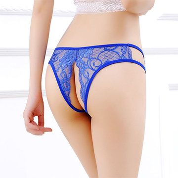 f8de8d683 Hot Sexy See Through Lace Open Crotch Low Rise Thongs For Women - NewChic  Mobile