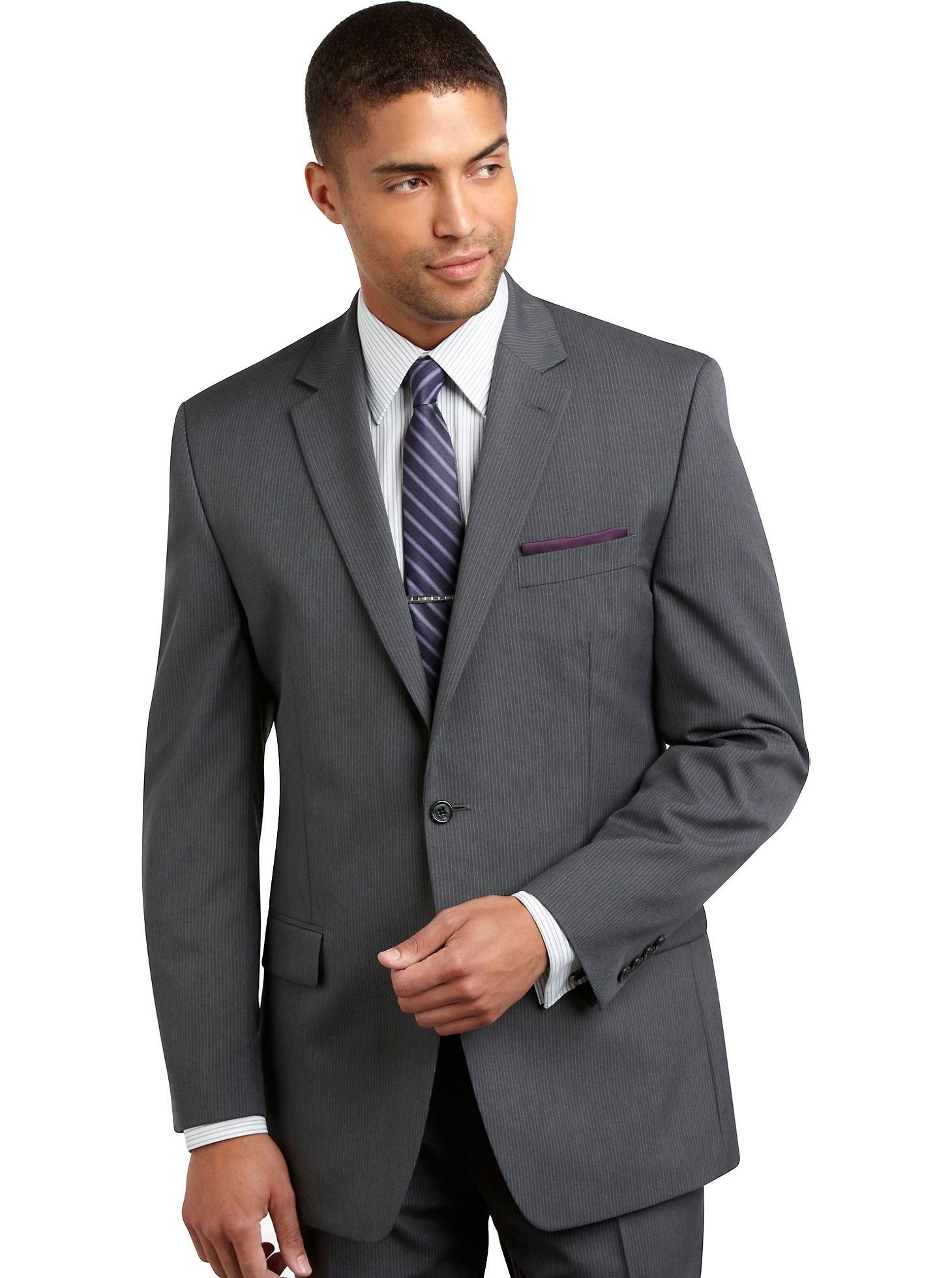 For the Guys.. Suits - Michael Kors Gray Multistripe Suit - Men\'s ...