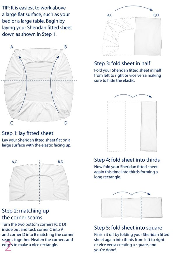 How To Fold A Fitted Sheet - Easy Instructions | T