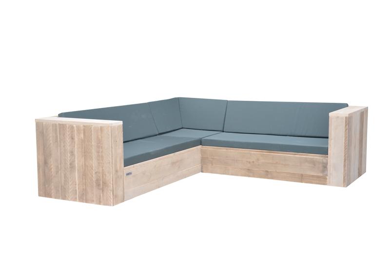 Wood4you - Loungeset 1 steigerhout 250x220 cm - incl kussens -