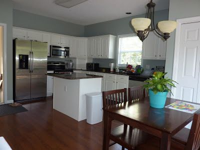Glidden Duo Paint in Dusty Miller for kitchen with white ...